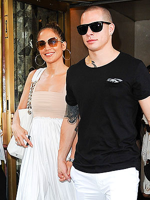 Jennifer Lopez, Casper Smart, Celebrate 43rd Birthday in New York City