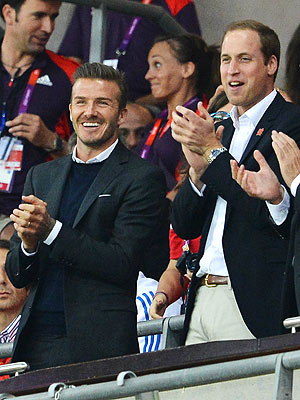 David Beckham, Prince William Cheer On British Olympic Soccer Team