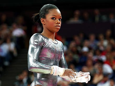 Gabby Douglas Competes in Individual Uneven Bars Final