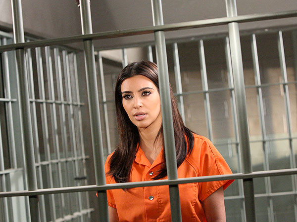 Kim Kardashian Goes to Jail on Drop Dead Diva - PHOTO
