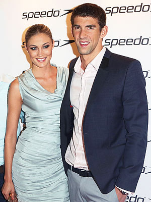 Megan Rossee & Michael Phelps Get Cozy at Olympic Celebration