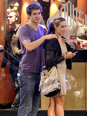 Olympics 2012: Natalie Coughlin & Nathan Adrian Grab Snack in London