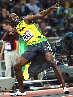 Usain Bolt Runs Against Three Americans in 100M - London Olympics Results