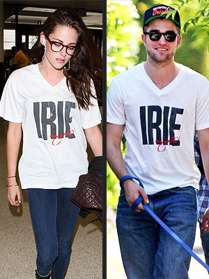 Kristen Stewart Wears Robert Pattinson's T-Shirt