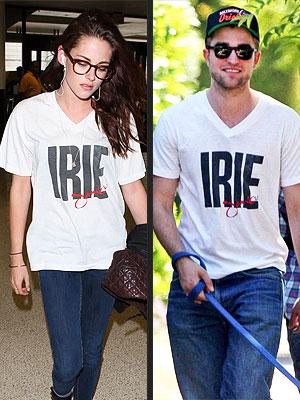 Kristen Stewart Wears Robert Pattinson's T-Shirt