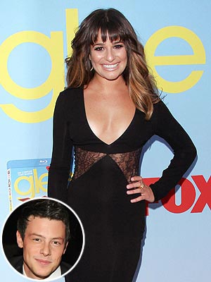 Glee&#39;s Lea Michele: Cory Monteith &#39;Inspires and Motivates Me&#39;