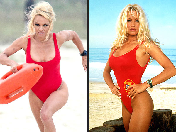 Pamela Anderson on Dancing with the Stars; Does Shoot in Baywatch Bathing Suit