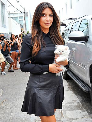 Kanye West Gave Kim Kardashian Her New Cat