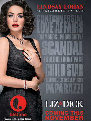 Lindsay Lohan&#39;s Liz & Dick Poster Revealed