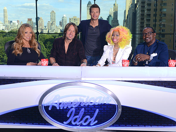 American Idol Judges: Mariah Carey, Randy Jackson, Keith Urban, Nicki Minaj