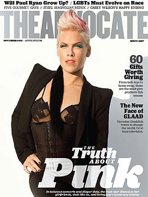 Pink Talks Family Life, Economy in The Advocate