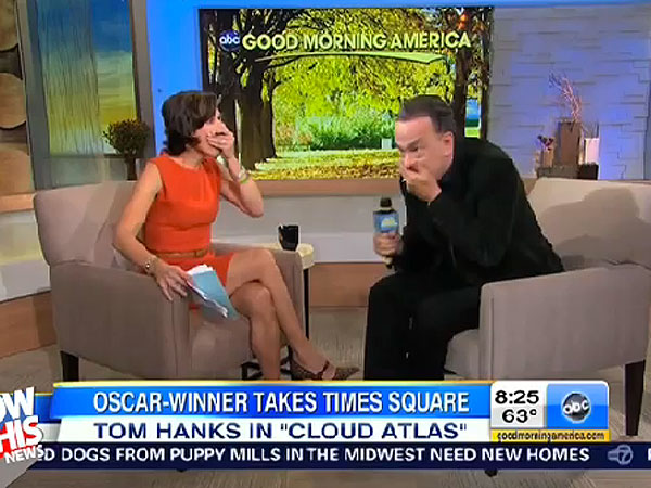 Tom Hanks Lets F-Bomb Slip on Good Morning America