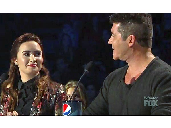 X Factor: Simon Cowell and Demi Lovato Clash