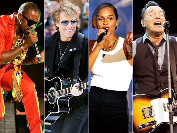 Eric Clapton, Bruce Springsteen, Kanye West & More at 12-12-12 Sandy Relief Concert