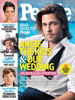 Brad Pitt Talks Wedding to Angelina Jolie; Being a Dad