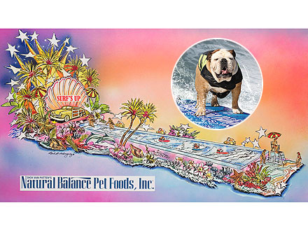 See Tillman the Skateboarding Dog's Record-Breaking Rose Parade Float