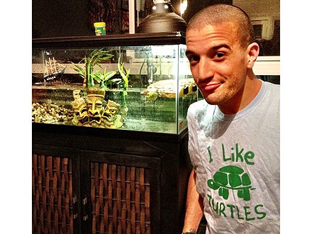 Mark Ballas Gets Pet Turtles