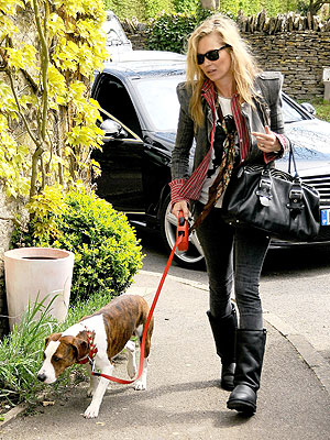 Kate Moss Gives Up Heels for Her New Dog