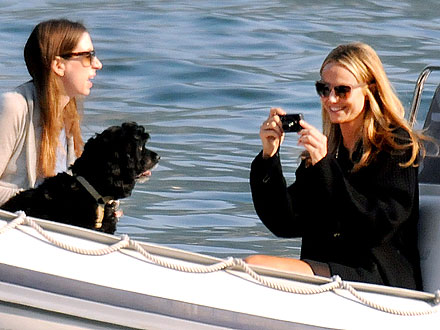 Stacy Keibler Enjoys Lake Como – with George Clooney's Dog!