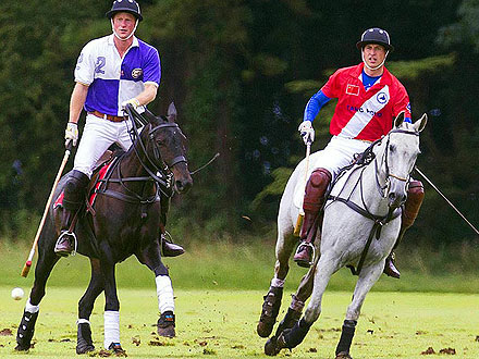 Prince Harry, Prince William Play Polo: Photo