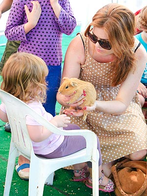 To the Petting Zoo! Isla Fisher & Mark McGrath Have Family Fun with Ponies