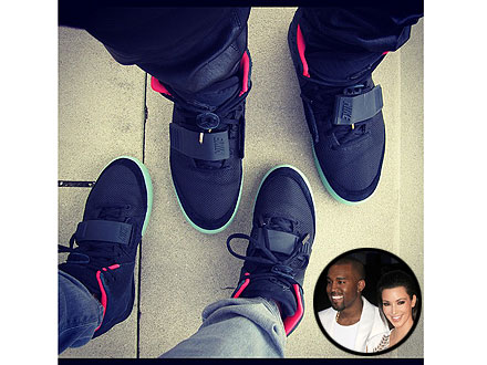 Kim and Kanye Score Matching High-Fashion Sneakers