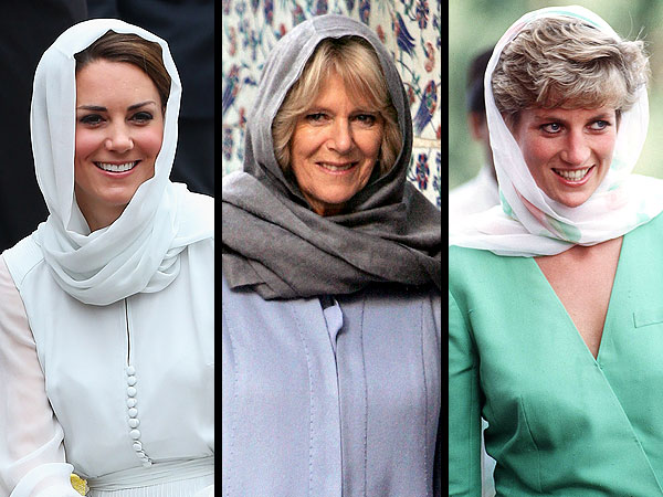 Kate's Headscarf Recalls Diana, Camilla