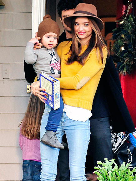 Runway Ready: Miranda Kerr & Her Dapper Boy Flynn