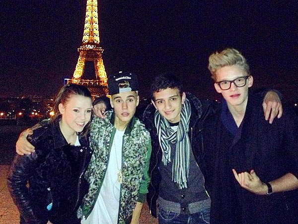 Justin Bieber Hits Moulin Rouge in Paris