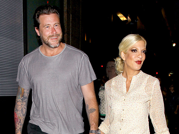 Tori Spelling and Dean McDermott at Katsuya