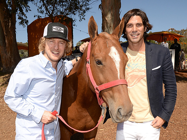 Owen Wilson & Son Pony Up at Polo in Los Angeles