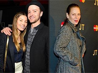 Jessica Biel & Uma Thurman Rock Out at Justin Timberlake's N.Y.C. Show | Jessica Biel, Justin Timberlake, Uma Thurman