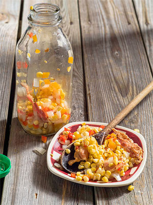 Summer BBQ Recipe: Pickled Corn-Bacon Relish