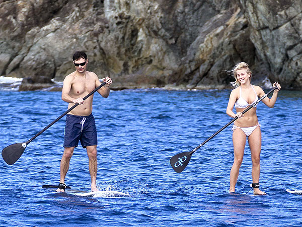 Julianne Hough, Ryan Seacrest Paddleboard in St. Barts