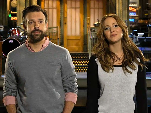 Jennifer Lawrence and Jason Sudeikis Joke Around in SNL Promos