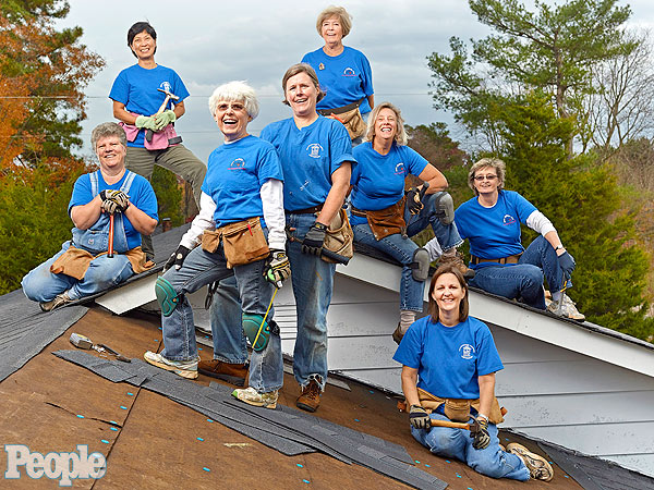 North Carolina Women Roofers Repair Homes for Free