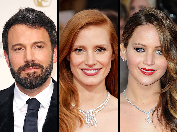 Ben Affleck, Jessica Chastain, Jennifer Lawrence to Present at the Oscars