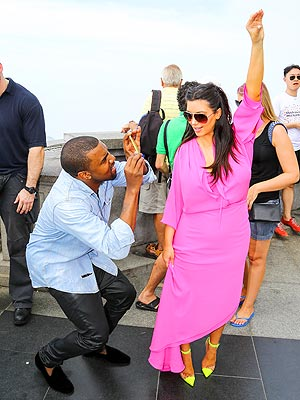 Kim Kardashian & Kanye West Go Sightseeing in Rio