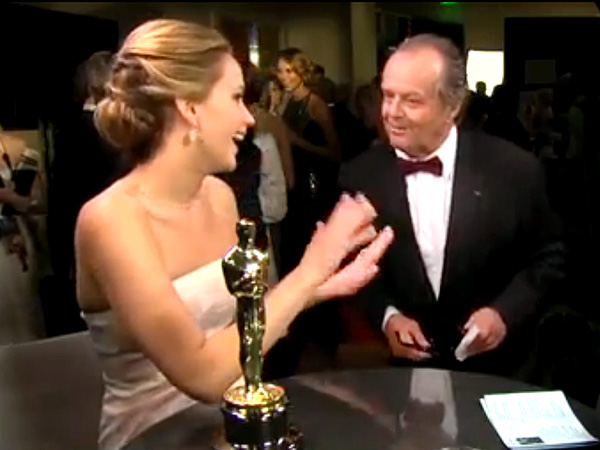 Jennifer Lawrence Says Jack Nicholson Sent Her a Bottle of Cristal After Oscar Win