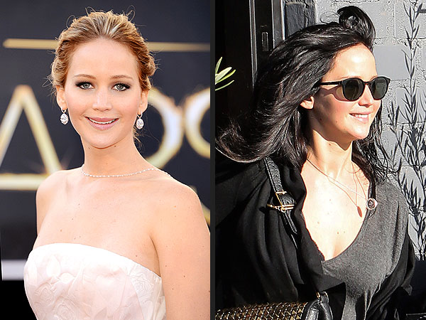 Jennifer Lawrence Hair Goes Jet Black for Hunger Games Reshoots