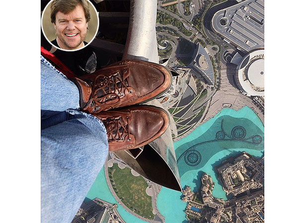 Instagram Shot Taken from Top of World's Tallest Building