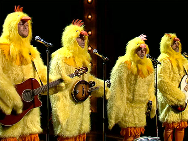 Jimmy Fallon, Blake Shelton Spoof Lumineers Grammy Hit for Easter