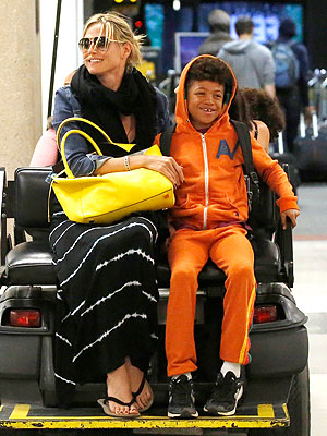 Heidi Klum & Family in LAX After Hawaii Trip Riptide Scare