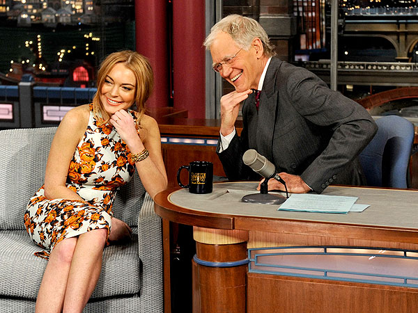 Lindsay Lohan Talks Rehab on David Letterman