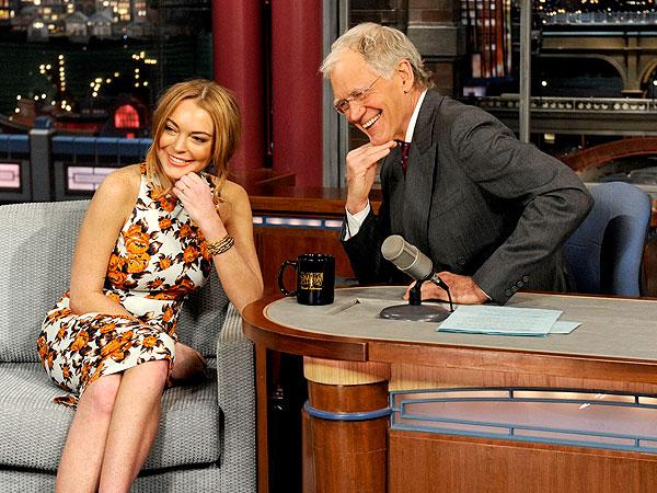Lindsay Lohan Talks Rehab on David Letterman