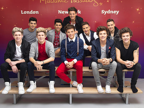 One Direction Meets Their Wax Figures in London