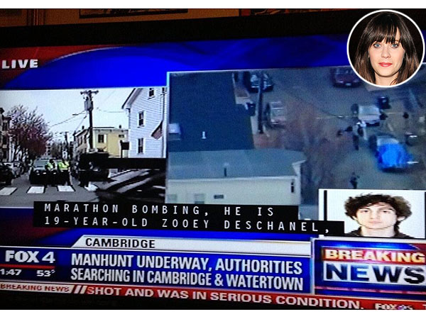 Zooey Deschanel Misidentified as Boston Marathon Bombing Suspect in Closed Captioning Error