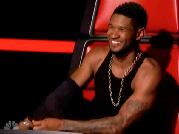 The Voice Competition Heats Up, Usher Sheds Shirt