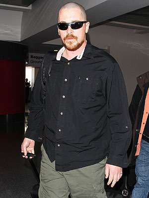 Christian Bale Photos -- Actor Is Bald at LAX