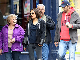 Meet the Parents! Ashton & Mila Hang with Her Folks in London